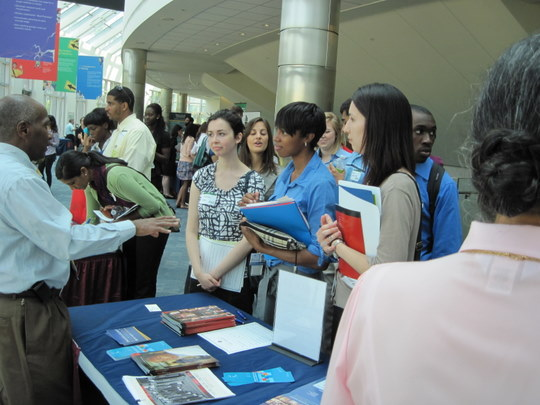 Fair Attendees at the Morgan State Table