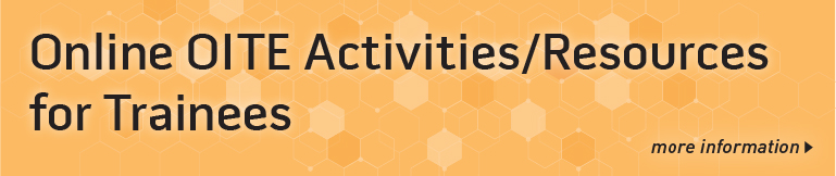 Online OITE Activities/Resources for Trainees